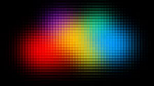 Превью обои пиксели, форма, разноцветный, блеск