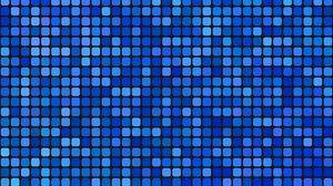 Превью обои пиксели, квадраты, мозаика, синий, градиент
