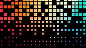 Превью обои пиксели, текстура, квадраты, градиент