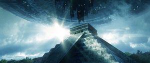 Превью обои пирамида, нло, пришельцы, визит, контакт, внеземной, цивилизация