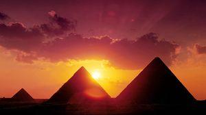 Превью обои пирамиды, египет, солнце