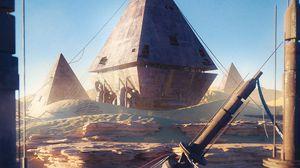 Превью обои пирамиды, руины, здания, пустыня