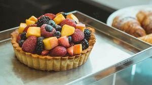Превью обои пирожное, фрукты, микс