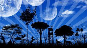 Превью обои планета, мир, воображение, фантазия
