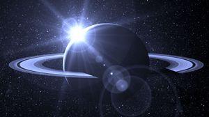 Превью обои планета, орбита, космос, галактика, звезды, свет