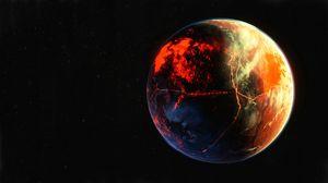 Превью обои планета, поверхность, атмосфера, космос, открытый космос