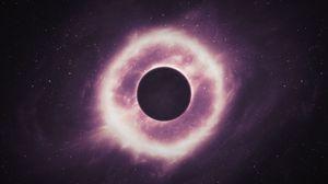 Превью обои планета, созвездия, черная дыра, космос