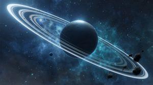 Превью обои планета, спутник, космос, вселенная