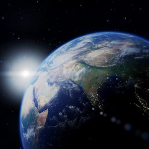 Превью обои планета, космос, звезды, вселенная