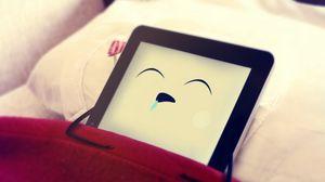 Превью обои планшет, телефон, сон, постель, фантазия