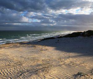 Превью обои пляж, берег, море, природа, пейзаж