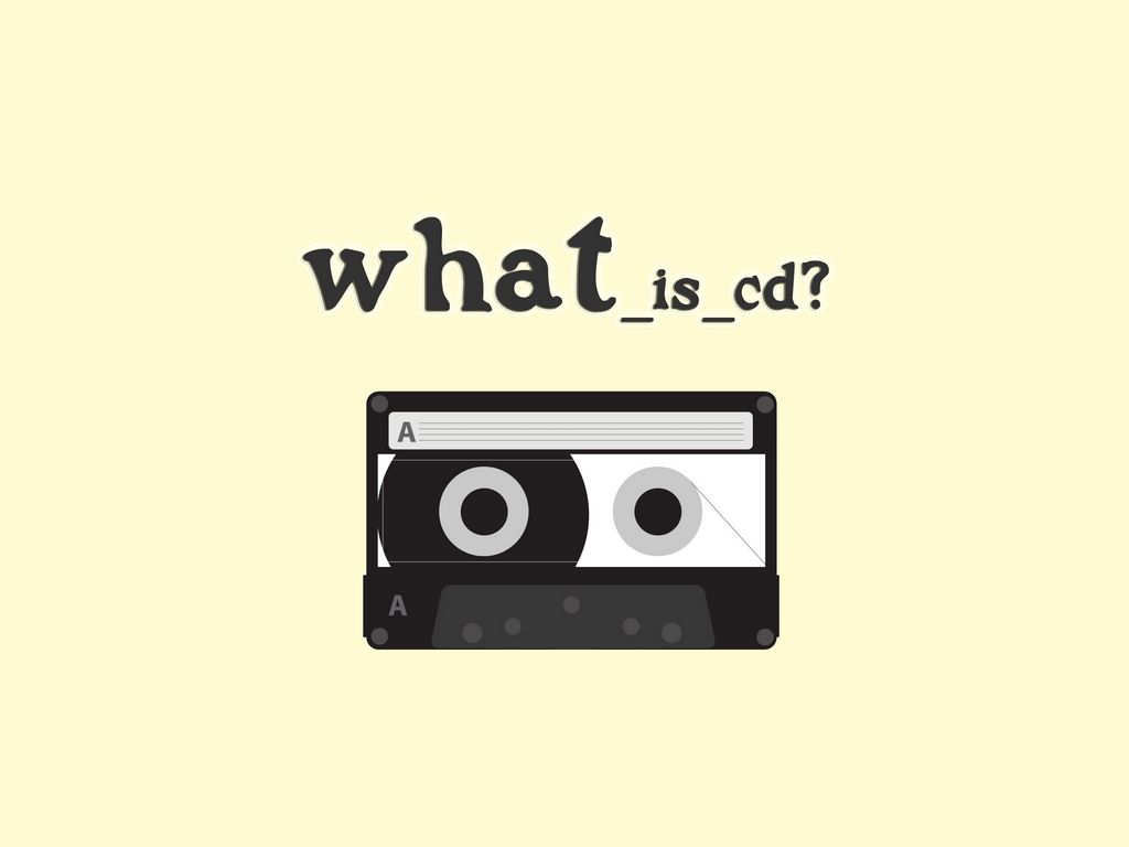 1024x768 Обои плёнка, жёлтый, кассета, вопрос
