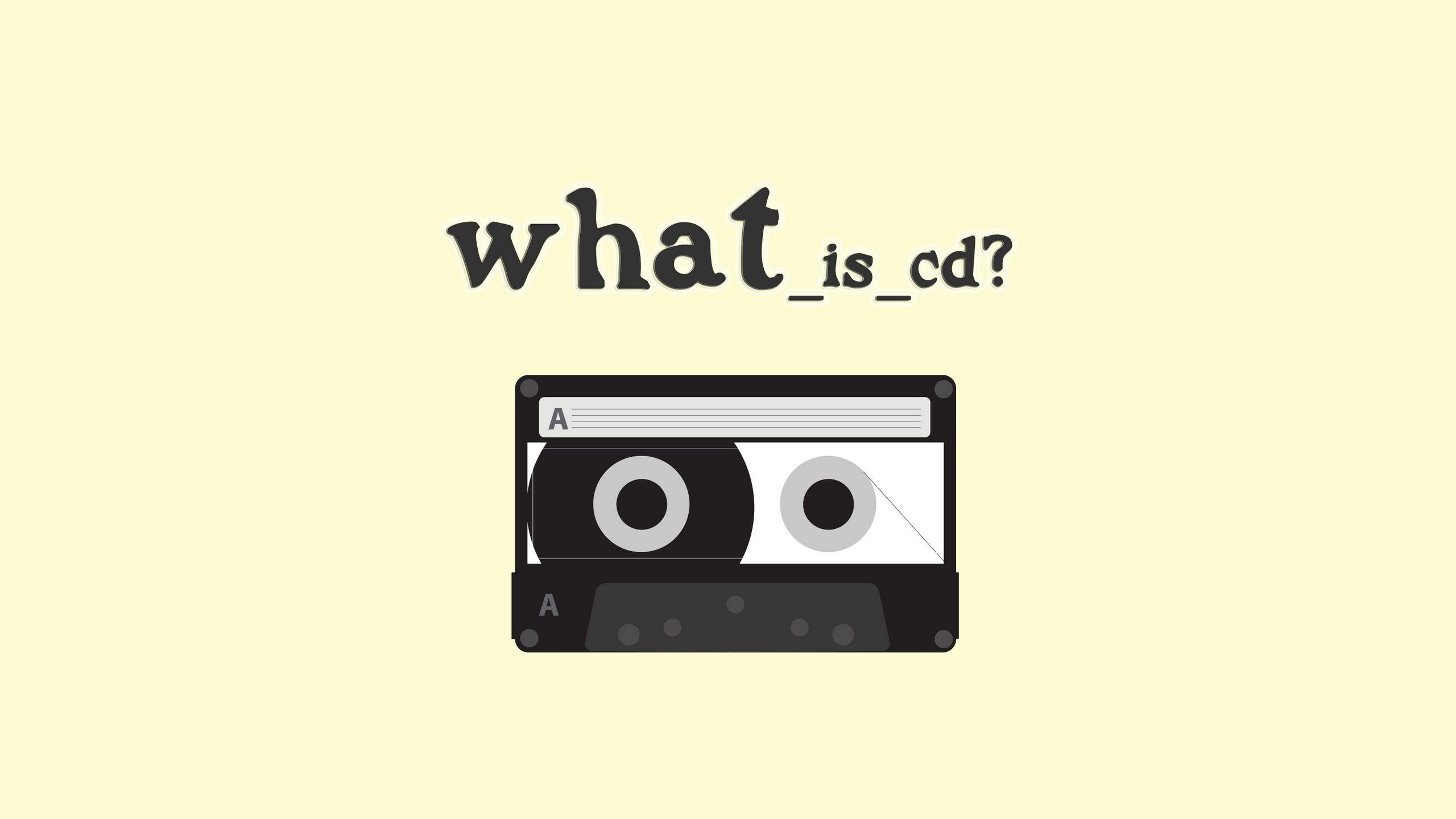 2560x1440 Обои плёнка, жёлтый, кассета, вопрос