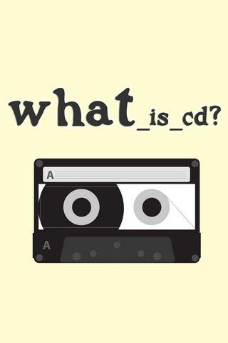 320x480 Обои плёнка, жёлтый, кассета, вопрос