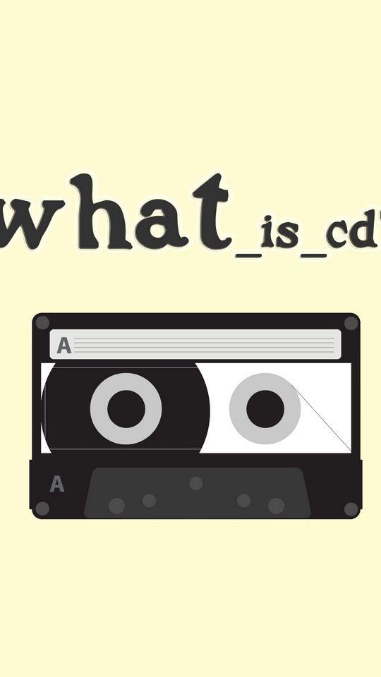 540x960 Обои плёнка, жёлтый, кассета, вопрос