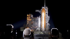 Превью обои площадка, космодром, запуск, старт