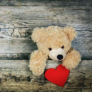 Превью обои плюшевый медведь, сердце, день святого валентина, любовь