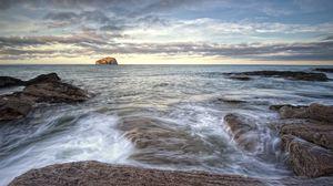 Превью обои побережье, шотландия, пейзаж, north berwick, природа