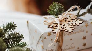 Превью обои подарок, коробка, праздник, рождество, новый год