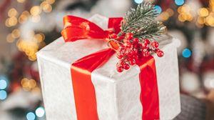 Превью обои подарок, коробка, рождество, новый год, праздники