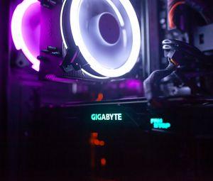 Превью обои подсветка, неон, электроника, устройство, свет