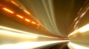 Превью обои погружение, свет, туннель, углубление