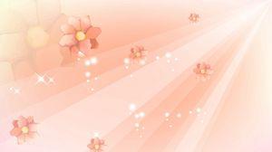 Превью обои полет, цветок, линии, светлый