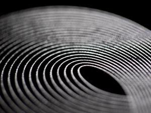 Превью обои полосы, линии, размытие, макро, черно-белый, черный