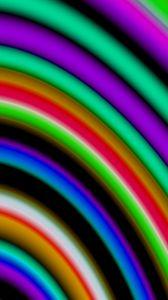 Превью обои полосы, разноцветный, абстракция, размытость