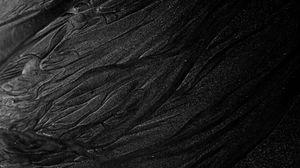 Превью обои поверхность, текстура, рельеф, черный