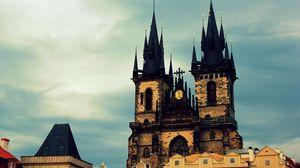 Превью обои прага, город, чехия, здания, небо, готический