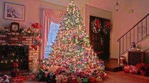 Превью обои праздник, елка, новый год, украшение