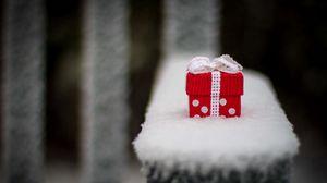Превью обои праздник, подарок, коробка