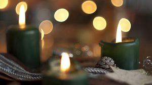 Превью обои праздник, свечи, фон