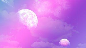 Превью обои пространство, планеты, импровизация, свет