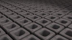 Превью обои пространство, серый, куб