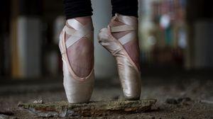 Превью обои пуанты, балерина, ноги