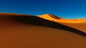 Превью обои пустыня, дюны, песок, тень, холмы