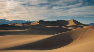 Превью обои пустыня, песок, дюны, холмы, холмистый