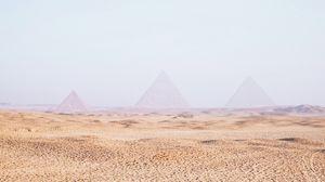 Превью обои пустыня, песок, пирамиды