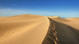 Превью обои пустыня, песок, небо, ветер