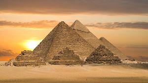 Превью обои пустыня, пирамиды, египет
