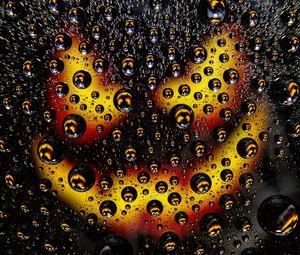 Превью обои пузыри, капли, макро, поверхность