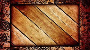 Превью обои рамка, фон, деревянный, полосы, темный