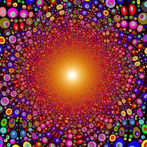 Превью обои разноцветный, яркий, круги, структура, линии, взрыв