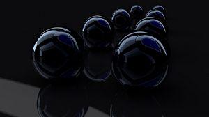 Превью обои рендеринг, рендер, черный, отражение