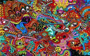 Превью обои рисунок, сюрреализм, красочный, психоделика