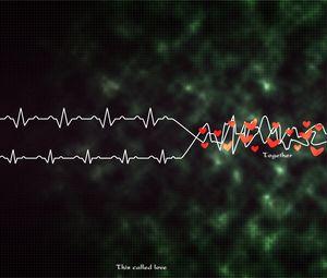 Превью обои ритм, сердце, сплетение