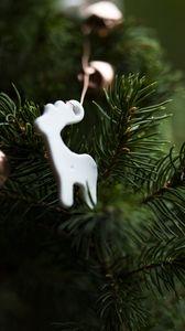 Превью обои рождество, новый год, елка, игрушка