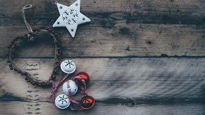 Превью обои рождество, шар, сердце, орнамент, звезда